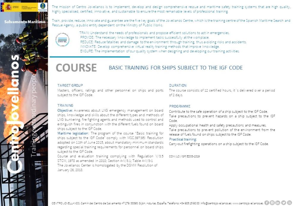 Image Basic training for ships subject to the IGF code