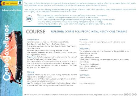 Image Refresher Course for Specific Initial Health Care Training