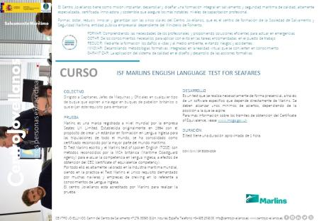 Imagen ISF Marlins English Language Test For Seafares