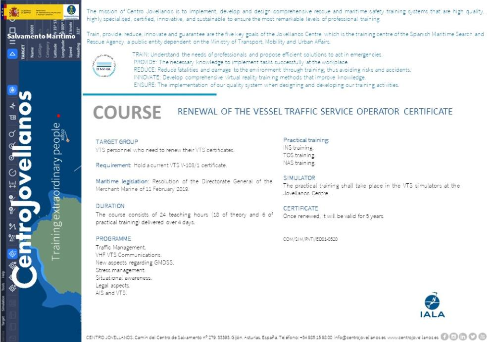 Image Renewal Of The Vessel Traffic Service Operator Certificate
